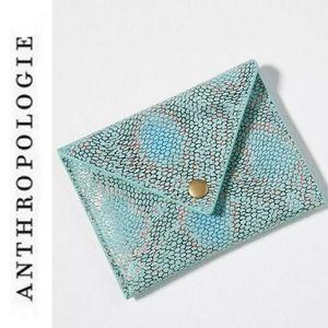 Anthropolgie Mattie Leather Card Holder NWT